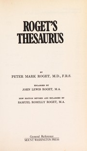 Cover of: Roget's thesaurus