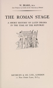 Cover of: The Roman stage