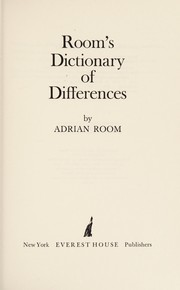 Cover of: Room's Dictionary of differences