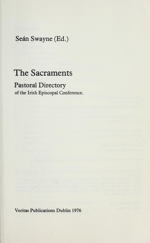 The sacraments by