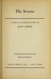 Cover of: The screens | Genet, Jean