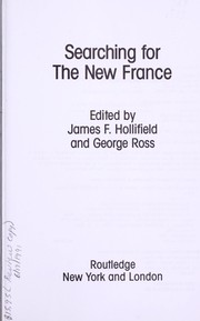 Cover of: Searching for the new France