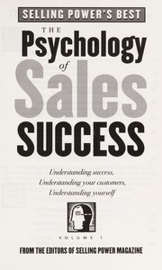 Cover of: The Psychology of Sales Success | Gerhard Gschwandtner