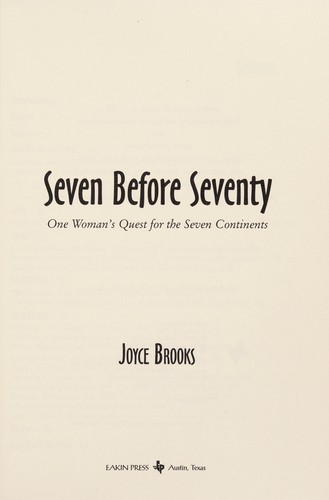 Seven before seventy by Joyce Brooks