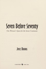 Cover of: Seven before seventy | Joyce Brooks