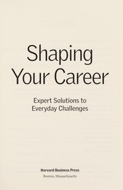 Cover of: Shaping your career |