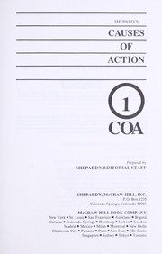 Cover of: Shepard's causes of action