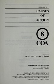 Cover of: Shepard's causes of action second