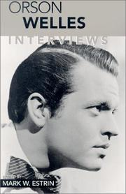 Cover of: Orson Welles: Interviews (Conversations With Filmmakers Series)