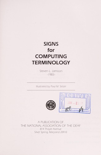 Signs for Computing Terminology by Stephen Jamison