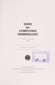 Cover of: Signs for Computing Terminology | Stephen Jamison