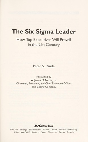 The Six Sigma leader by Peter S. Pande