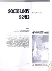 Cover of: Sociology 92/93