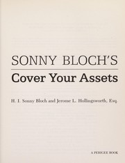 Cover of: Sonny Bloch's cover your assets