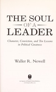Cover of: The soul of a leader | Waller Randy Newell