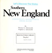 Cover of: Southern New England : Connecticut, Massachusetts, Rhode Island