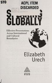 Cover of: Speaking globally | Elizabeth Urech