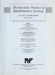 Cover of: Speciality Practice of Rehabilitation Nursing |