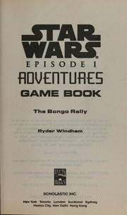 Cover of: Star wars episode I adventures game book