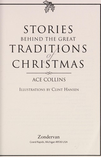 The Stories Behind Great Traditions of Christmas SC - FCS by Ace Collins