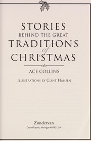 Cover of: The Stories Behind Great Traditions of Christmas SC - FCS | Ace Collins