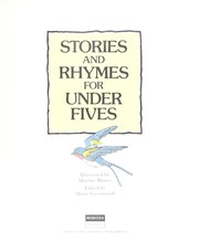 Cover of: Stories and rhymes for under fives