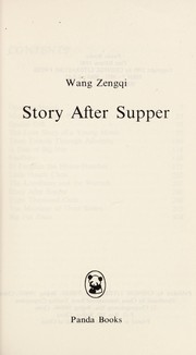 Cover of: A Story After Supper |