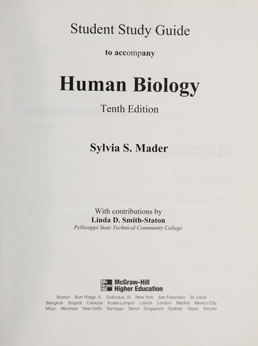 Student Study Guide to Accompany Human Biology by Sylvia S. Mader