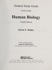Cover of: Student Study Guide to Accompany Human Biology | Sylvia S. Mader
