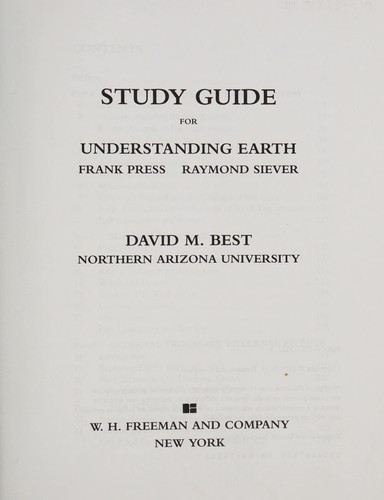 Understanding the Earth by Frank Press, Ray Siever