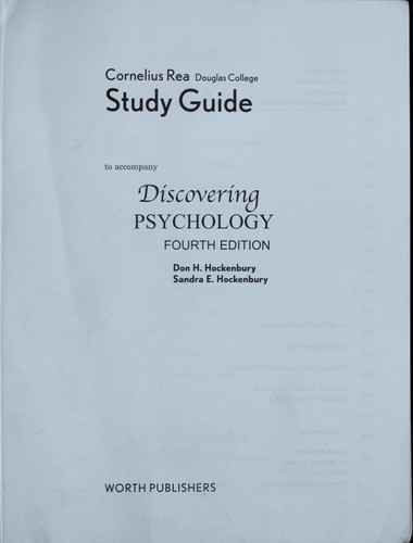 Discovering Psychology Study Guide by