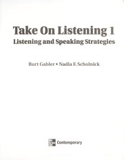 Cover of: Take on Listening 1 | Burt Gabler