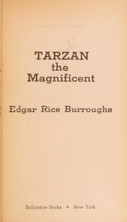 Cover of: Tarzan the Magnificent (Tarzan #21) |