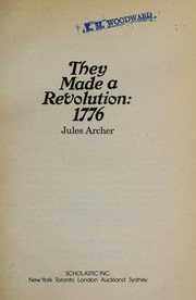 Cover of: They Made a Revolution |