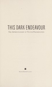 Cover of: This dark endeavour