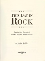 Cover of: This day in rock
