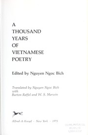 Cover of: A thousand years of Vietnamese poetry | NguyeМѓМ'n, NgoМЈc BiМЃch