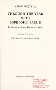 Cover of: Through the year with Pope John Paul II: readings for every day of the year