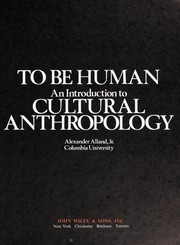 Cover of: To be human | Alexander Alland