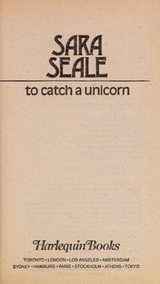 Cover of: To Catch a Unicorn (Harlequin Presents..., 97) |