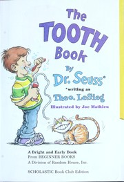 Cover of: The Tooth Book (Bright and Early Books for Beginning Beginners) |