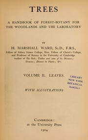 Cover of: Trees | H. Marshall Ward