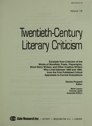 Cover of: Twentieth-Century literary criticism. [electronic resource]