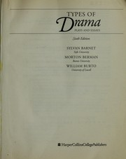 Cover of: Types of Drama | Sylvan Barnet, Morton Berman