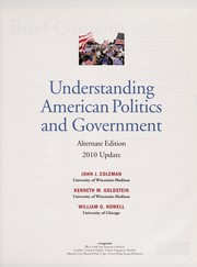 Cover of: Understanding American politics and government | Coleman, John J.
