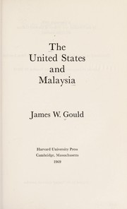 Cover of: The United States and Malaysia