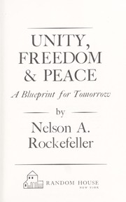 Cover of: Unity, freedom & peace