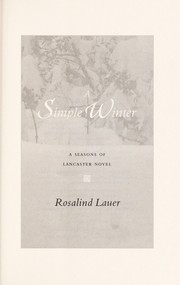 Cover of: A simple winter