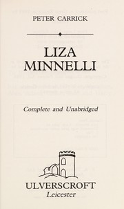 Cover of: Liza Minnelli (Ulverscroft General) | Peter Carrick