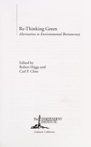Cover of: Re-thinking green |